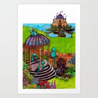 monkey island Art Prints featuring Monkey Island by Charlie L'amour