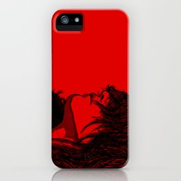 Smoking (Black on Red Variant) iPhone Case