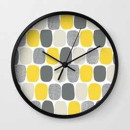 Wonky Ovals in Yellow Wall Clock