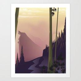 Night Woodland Art Print