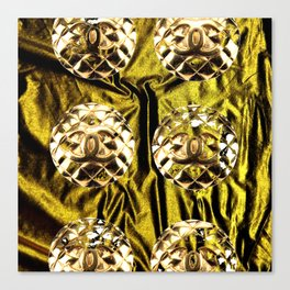 gold vintage earrings coco Canvas Print