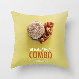 We Make a Great Combo Throw Pillow