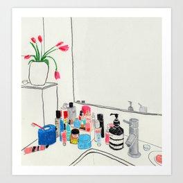 Crowded Sink Art Print