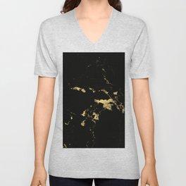 Black Marble #5 #decor #art #society6 Unisex V-Neck