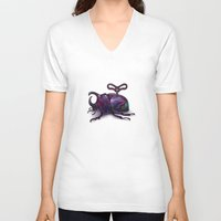 beetle V-neck T-shirts featuring Beetle by Tanya_tk
