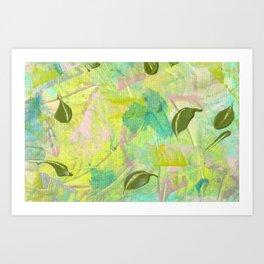 Leafy Breeze Art Print