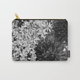Succulents in Black & White Carry-All Pouch