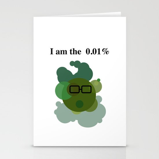 Wall Street Bacteria Stationery Cards