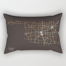 Oklahoma Highways Rectangular Pillow