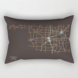 Oklahoma Highways Rectangular Pillow