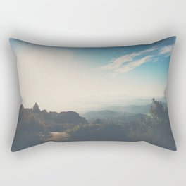 morning light on Mount Woodson, California Rectangular Pillow