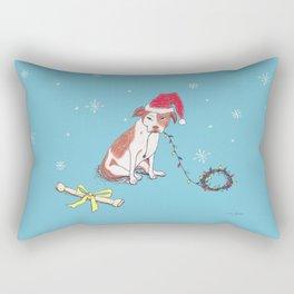 Santa Pup Rectangular Pillow