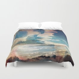 Spray Painting the Sunset Duvet Cover