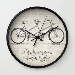 Bicycle Quote Wall Clock