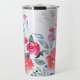 Red roses watercolor painting Travel Mug