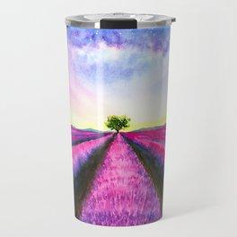 Lavender Fields on Sunday Travel Mug