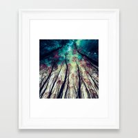 nordic Framed Art Prints featuring NORDIC LIGHTS by RIZA PEKER