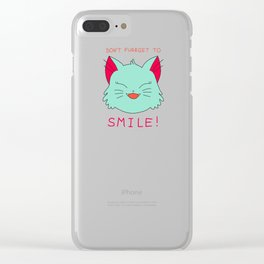 smile.cat (original catmint flavour) Clear iPhone Case