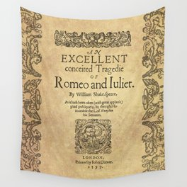 Shakespeare, Romeo and Juliet 1597 Wall Tapestry