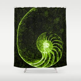 sacred geometry-shell mandala-nature-healing-energy-quantum Shower Curtain