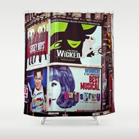 broadway Shower Curtains featuring New York City Broadway Signs by Eye Shutter to Think Photography