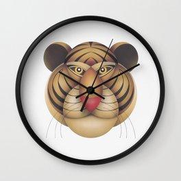 compasses tiger Wall Clock