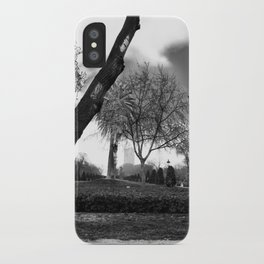 Cloudy day in the park iPhone Case