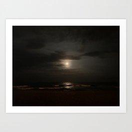Full Moon Jersey Shore Art Print