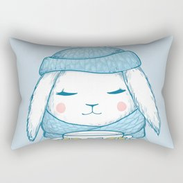 Winter Rabbit Rectangular Pillow