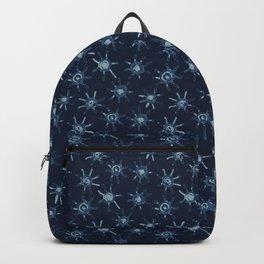 Sun Batik Dye Indigo Blue Hand Drawn Grunge Backpack