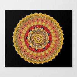 Blue Mandala Art Canvas Print