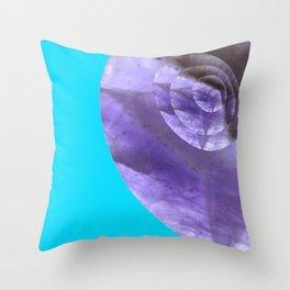 Light Blue Mystical Powers of Amethyst #society6 Throw Pillow