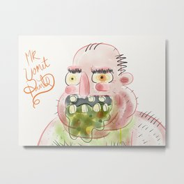 Mr. Vomit Pants Metal Print