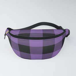 Purple and Black Gingham Pattern Fanny Pack