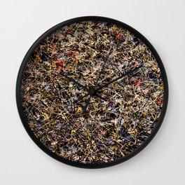 Pollock Wall Clock