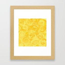 Honey Yellow Roses Abstract Framed Art Print