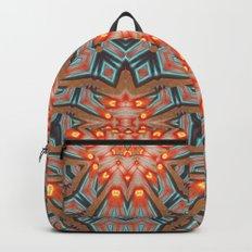 Energy Light   Orange & Teal geometry Backpacks