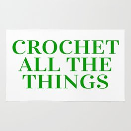 Crochet All The Things in Green Rug