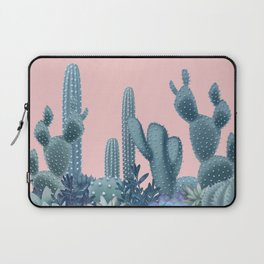 Milagritos Cacti on Rose Quartz Background Laptop Sleeve