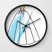 ravenclaw Wall Clocks featuring Ravenclaw Dress by AlwaysRiverose