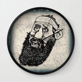 Bearded Gent from the Motorcycle Club Wall Clock