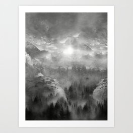 Black and White - Wish You Were Here (Chapter I) Art Print