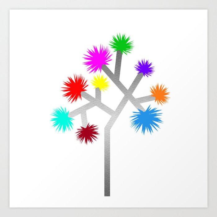 Joshua Tree Pom Poms by CREYES Art Print