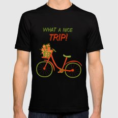 What a nice trip MEDIUM Mens Fitted Tee Black