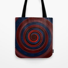 Re-Created Spin Painting (Midnight & Burgundy) Tote Bag