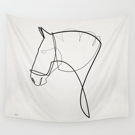 One line Horse 1403 Wall Tapestry