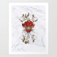 roman Art Prints featuring Roman Marble by Eleaxart