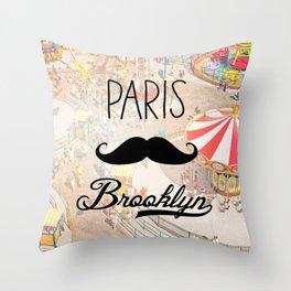 Paris Brooklyn ii Throw Pillow