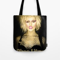 muppet Tote Bags featuring Rhea (Muppet Hair) by Meanfinger