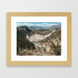 Calcite Springs, Yellowstone National Park, Wyoming Framed Art Print